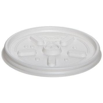 Dart 8JL White Vented Lid - 8 Series (Case of 1000)