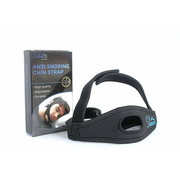 Silencio Anti Snoring Chin Strap – Snore Stopper Sleep Aid Eases Breathing – Men & Women Relief – w/Jaw Strap & Chin Hollow for Best Fit – Adjustable, Comfortable, Superior Triangular Design (Black)