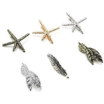 RTNOW 6pcs Women Girl Hair Clip Punk Hair Clips Leaf Starfish Design Hair Pin Claw Barrettes