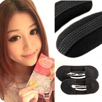 Flyusa 1 Pair Sponge Style Bump It Up Volume Velcro Hair Inserts With Clip Back Do Beehive Hair styler Tool