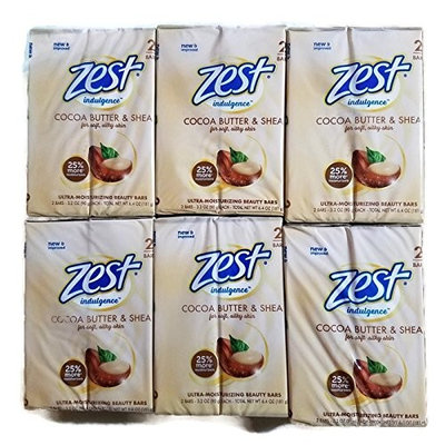Zest Cocoa Butter & Shea - 3.2oz - 12 pack