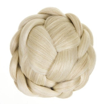 Platinum Blonde Lattice Effect Clip In Bun | Clip On Glamorous Hairpiece | Available in 4 Colours