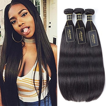 Modernlady 8A Brazilian Straight Virgin Hair Bundle Deals 100% Unprocessed Virgin Human Hair Weave No Tangle Natural Color (12