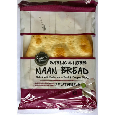 Sam's Choice Garlic & Herb Naan Bread, 2 ct, 7.5 oz