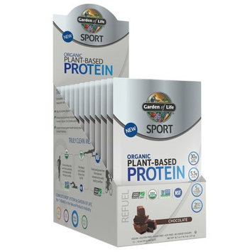Sport Organic Plant-Based Protein Chocolate Garden of Life 12 packets Box