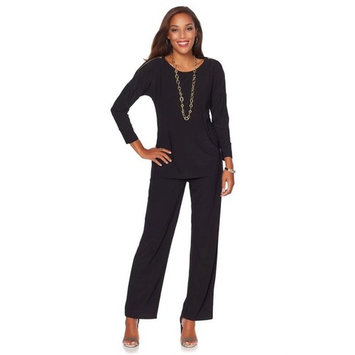 Antthony Urban Luxe Zipper-Slv Top Pant Set 566-171