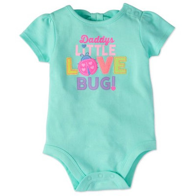 Garanimals Baby Girl Short Sleeve Graphic Back Bow Bodysuit