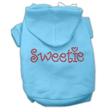 Mirage Pet Products 54-78 XLBBL Sweetie Rhinestone Baby Blue Pet Hoodie, X-Large