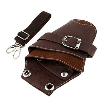 SunniMix Real Leather Barber Waist Pouch Scissors Hair Cutting Tools Pouch Holster Belt Hairdressing Shears Accessories Holder