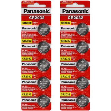Panasonic CR2032 3V Lithium Coin Battery - 10 Pack +!