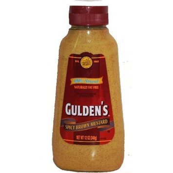 Gulden's 100 % Natural Spicy Brown Mustard - 12 oz Squeeze Bottle