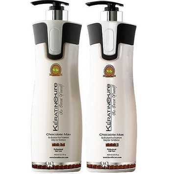 Keratin Cure Brazilian Chocolate Bio with Aloe daily use Shampoo Conditioner 32 oz set with Argan oil Biotin SULFATE FREE protect Color Enhance Hair Growth prevent Hair Loss