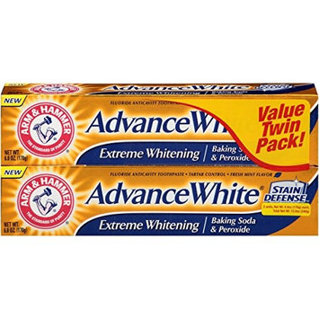 Arm & Hammer Advance White Extreme Whitening Toothpaste - 6 Oz (Pack of 2)