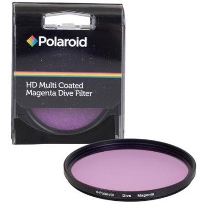 Polaroid 58mm HD Muti-Coated Magenta Dive Filter - For Use In Green Water