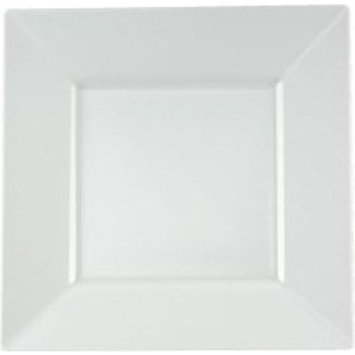 EMI Yoshi Squares Plastic Luncheon Plates 9.5-inch White
