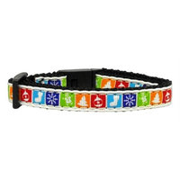 Mirage Pet Products 2505 CT Classic Christmas Nylon and Ribbon Collars. Cat Safety