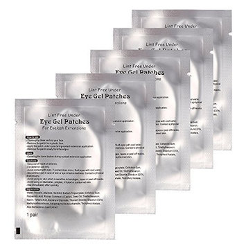 Baisidai 90 Pairs Professional Lint Free Under Eye Gel Pad Patches for Eyelash Extensions