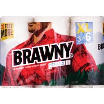 Brawny XL Pick-a-Size Paper Rolls, 3CT