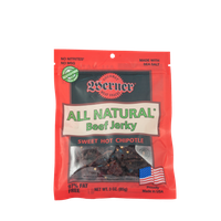 Werner Gourmer Meat Snacks Werner 3oz. All Natural Hot Chipotle Beef Jerky 4/6ct.