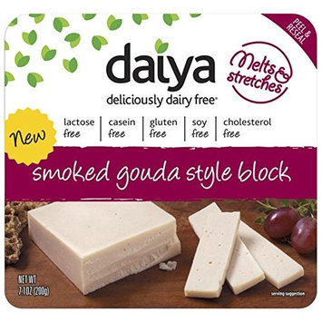 DAIYA Smoked Black Gouda Cheese, 7.1 Ounce (Pack of 8)