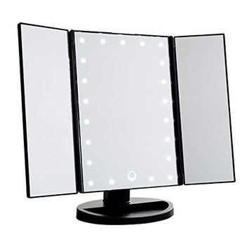 Impressions Vanity Touch Trifold Dimmable LED Makeup Mirror & Comsmetic Mirror-3 Way Mirror