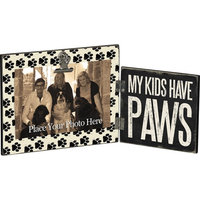 Primitives by Kathy Hinged Frame, 7.25 by 5.75-Inch, Have Paws