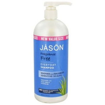 Jason Natural Products Fragrance Free Shampoo, 32 oz (Pack of 2)