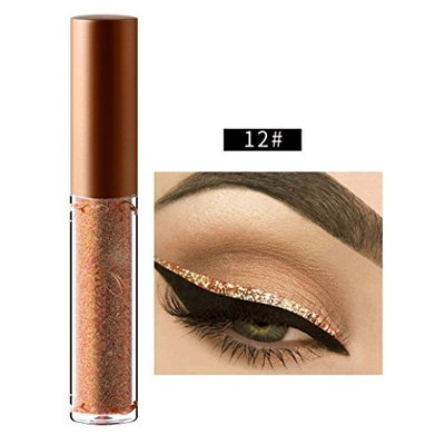 Franterd Liquid Eyeliner - Beauty Metallic Shiny Smoky Eyes Eyeshadow Glitter Eyeliner - long-lasting - Waterproof