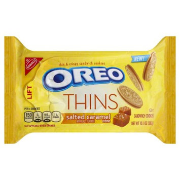 Nabisco Oreo Sandwich Cookies Thins Salted Caramel Creme