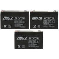 Universal Power Group UB670 6V 7Ah CF-6V7 PE6V7.2F1 CA160 BSL0925 Battery - 3 Pack
