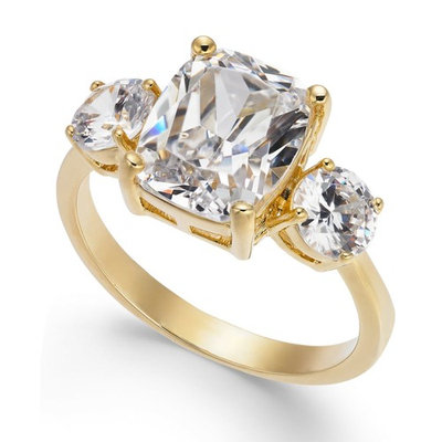 Gold-Tone Crystal Statement Ring, Created for Macy's
