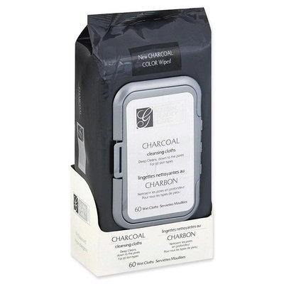 Global Beauty Care Premium Deep Cleansing Activated Charcoal Facial Oil-Free Make Up Remover Wipes 60 ct
