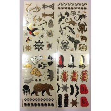 Twink Designs - Fun Metallic Temporary Tattoos for Kids (Boys and Girls)