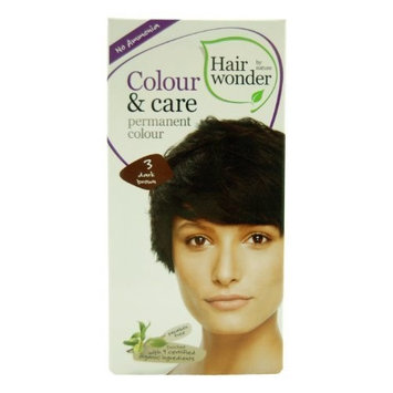 Colour and Care- 3 Dark Brown 3.50 Ounces by Hair Wonder by Nature