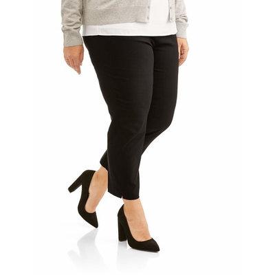 Lifestyle Attitudes Women's Plus Ankle Length Stretch Woven Career Pant