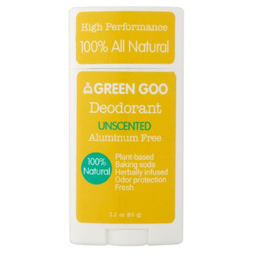 Green Goo Unscented Deodorant, 2.2 oz