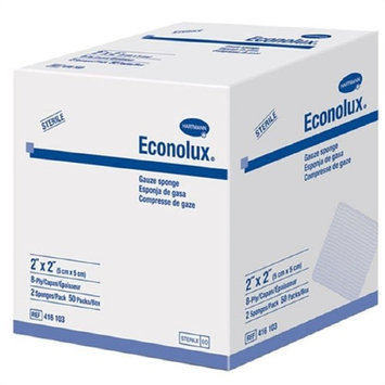 Econolux - Gauze Sponge Econolux - Cotton 8-Ply 4 X 4 Inch Square Sterile - 100/Box - McK