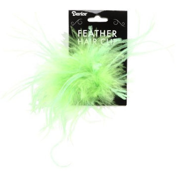 Ostrich Feather Hair Clip 1/Pkg-Lime