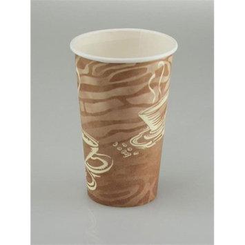 Pactiv D16HCSWL 16 oz Hot Cup Paper Swirl Design White - Case of 1000