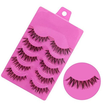 Leoy88 5 Pairs Fashion Natural Long False Eyelashes Makeup Z-1