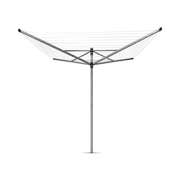 Brabantia Lift-O-Matic Rotary Airer with Accessories, 50 m - Silver [Rotary & Accessories]