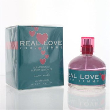 Eurolux ZZWEFREALLOVE34EDTSP Real Love Pour Femme By Eau De Toilette Spray New in Box 3.4 oz.