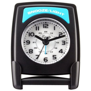 Equity By La Crosse Fold-Up 4.75 in. Travel Analog Alarm Table Clock