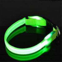 Sassy Dog Wear LED FLASHING GREEN4-C LED Flashing Dog Collar Green - Large