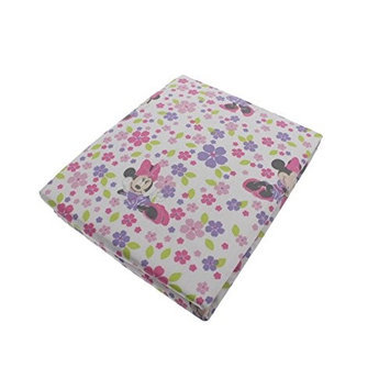 Kids Line Disney Baby Minnie Mouse Love Blossoms Premier Fitted Sheet