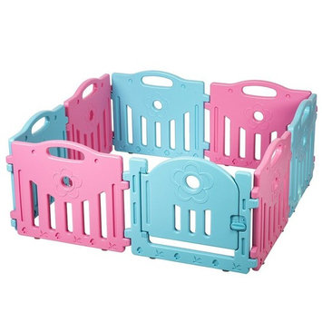 Baby Playpen Kids 8 Panel Safety Play Center Colorplay Playard Home Indoor Outdoor New Pen