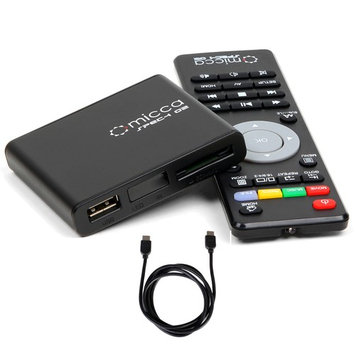 Micca Speck G2 Portable Compact Digital Media Player 1080p Full-HD w/ HDMI Cable Black