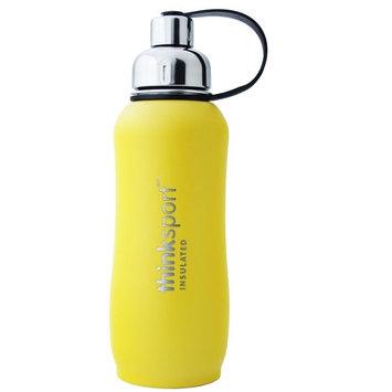 Thinksport Insulated Sports Bottle, Coated Yellow, 25 Oz (750ml)