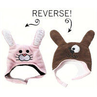 Luvali Convertibles LCKDWSBU Bunny/Puppy Reversible Kid's Winter Hat Small