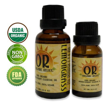 Organic Relief - Organic Lemongrass Essential Oil 15ml